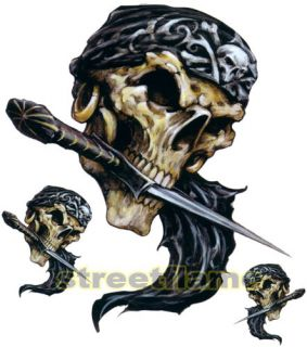 Pirate Skull Graphic Decal Sticker Car Truck SUV