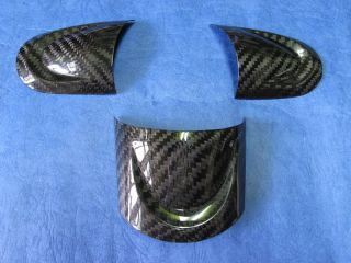 Mini Cooper s R55 R56 R57 Carbon Steering Wheel Spoke Insert Covers 3pc