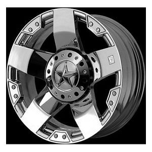 18x9 KMC XD Rockstar Chrome Rims