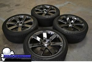 20 Chrysler 300 SRT8 Black Chrome Wheels Rims Goodyear Tires 2012 2013 12 13