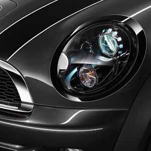 Mini Cooper Hardtop Coupe CVTBL Replacement Black Line Headlight Rings Trim