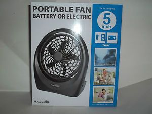 "5"" Battery or Electric Powerful Portable Personal Fan with AC Adapter Included"