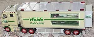 "Hess Indy Race Car Hauler Semi 14"" Collectible Battery Operated 2003 1 Car"