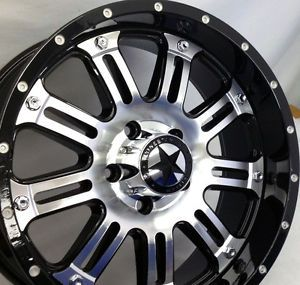 "Lonestar ""489"" Mirror Black Wheels 20 inch Dodge Truck RAM 1500 20"" Rims 5x5 5"