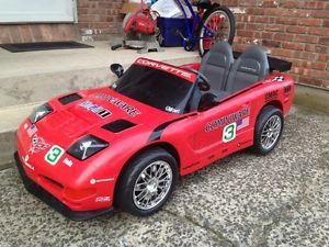 Power Wheels Fisher Price Corvette C6 Z06 Race Car 12V Battery Earnhardt Ride On