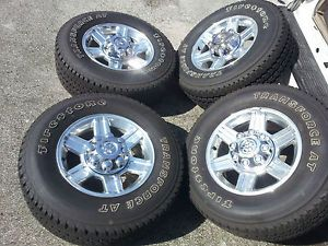 "2012 Dodge RAM Truck 2500 3500 2011 17"" Polished Wheels Tires Factory"
