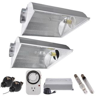 600W Digital HPS MH Grow Light Air Cooled Hood Reflector 600 Watt Ballast Gift