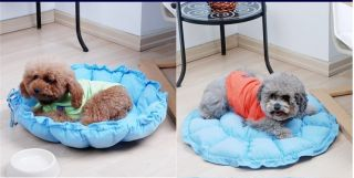 New Cute Applied Blue Pet Dog Puppy Cat Soft Warm Bed House Sofa Cozy Nest Mat