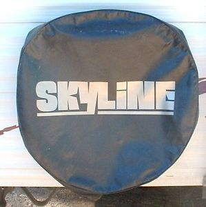 RV Trailer motorhome Spare Tire Cover Skyline Logo Used Very Good