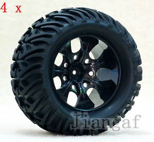 4X RC 1 10 Monster Bigfoot Car Truck Wheel Rubber Tyre Tire P5TY7