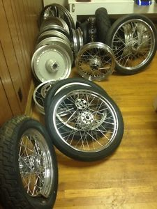 Harley Davidson Parts Lot Rims Wheels Custom Swap Meet