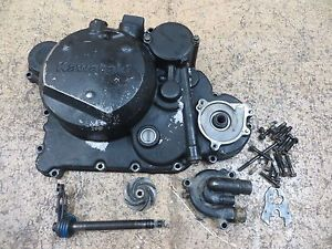 1994 94 Kawasaki KLR650 KLR 650 Engine Clutch Water Pump Side Cover Covers