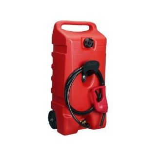 Portable Rotary Fuel Transfer Pump Hose Gas Can Caddy Boat Container 14 Gallon