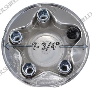 "4pc Set Ford F 150 16"" Alloy Steel Wheel Rim Chrome Center Cap 7 8"" Hub Nut Skin"