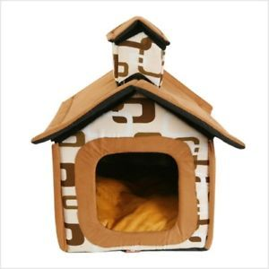 Indoor Dog House Pet House Tent Puppy Carrier Bed M