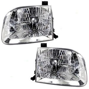 New Pair Set Headlight Headlamp Assembly Dot Toyota Sequoia Tundra Pickup Truck