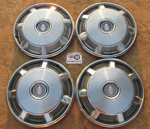 "1973 1974 1975 1976 1977 Chevy Monte Carlo 15"" Wheel Covers Hubcaps Set 4"