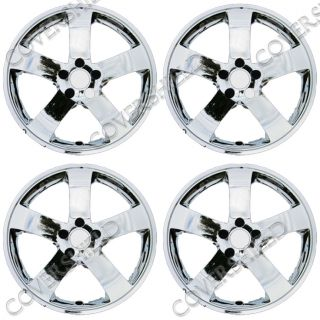"4 PC Set 08 13 Dodge Challenger 18"""" Chrome Wheel Skins Hubcaps Rim Covers Cap"
