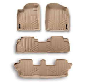 11 2012 Toyota Sienna Premium Maxfloormat Floor Mats Full Set Tan Liner All Rows