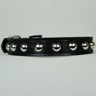 PU Leather Studded Cut Dog Collar Cat Puppy Collar for Neck 8 18 inch New Q24