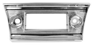 67 1967 Chevelle El Camino Dash Radio Trim Chrome Bezel