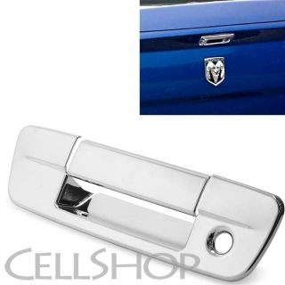 09 13 2013 Dodge RAM 1500 Truck Mirror Chrome Tailgate Liftgate Handle Cover Lid