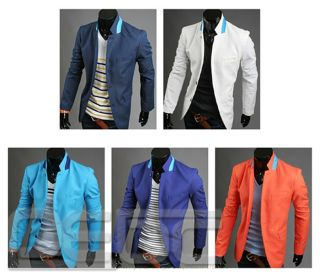 Mens Design Casual Dress Slim Fit Stylish Business Suit Blazer Coats Jackets