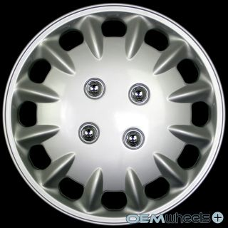 "4 New Silver 14"" Hub Caps Fits 1976 Current Honda Accord Wheel Covers Set"