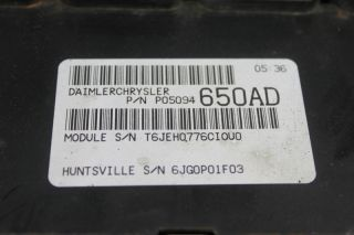 06 Dodge Caravan Chrysler Town Country PCM ECU Engine Computer 05094650AD 650
