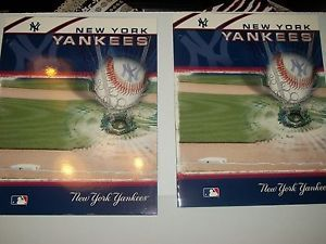 2 School Pocket Binders Folders New York Yankees Baseball MLB