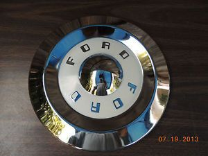 Pair of 57 59 Ford Dog Dish Hubcaps Fairlane Skyliner 58 Galaxie Poverty