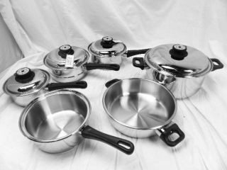 Maxam KT17 17 Piece Surgical Stainless Steel Finish Waterless Cookware Set Combo