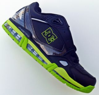 DC Versaflex Skate Shoes Black Soft Lime US Men's Sizes 10 11 12 New in Box