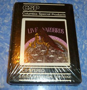 Yardbirds Live Featuring Jimmy Page SEALED 8 Track Tape Mint Condition