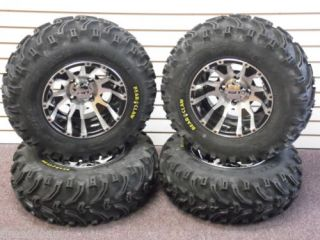 "25"" Yamaha Rhino Bear Claw ATV Tire C7 Deep Dish Wheel Kit Complete"