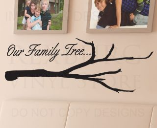 Wall Quote Decal Sticker Vinyl Art Lettering Decoration Our Family Tree Love F62