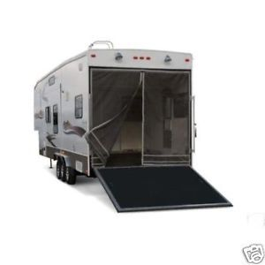 Toy Hauler Rear Screen Fiberglass or Aluminum Trailers
