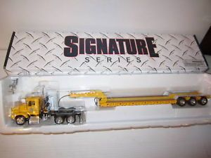 Tonkin 1 53 Kenworth Truck w Dot Yellow Lowboy Trailer