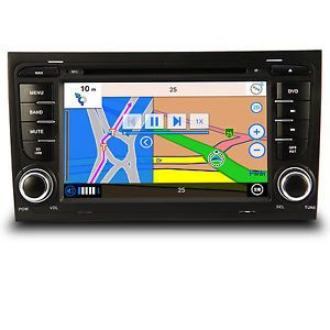 Car GPS Navigation Bluetooth Radio  TV DVD Player for 2002 08 Audi A4 S4 RS4