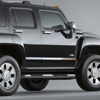 Hummer H3 05 10 Door Panel Trim Chrome Style Auto Accessories