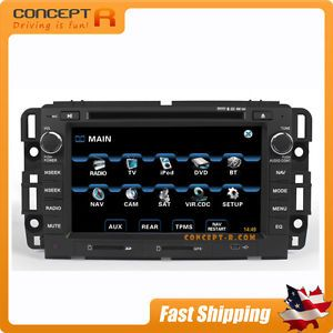 GM in Dash GPS Navigation DVD Radio Bluetooth XM Satellite iPod OnStar iGo Maps