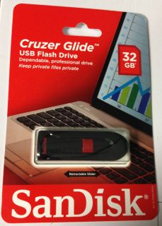 SanDisk Cruzer Glide USB Flash Drive 32GB Retractable from US Retail Store 4711201121543