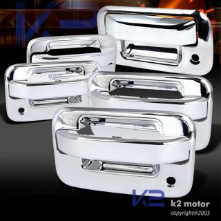 04 12 F150 Crew Cab Chrome Door Handle Covers Tailgate Trim 2 Keyholes