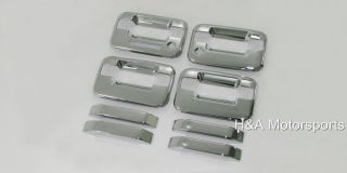 04 08 Ford F150 Chrome Door Handles 4DR w Driver Keypad