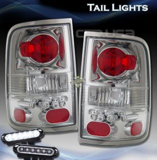 04 06 Ford F150 Styleside Chrome Tail Lights Brake Lamp LED Daytime Fog Lamps