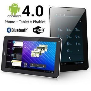 7 inch Phablet Smart Phone Tablet PC Android 4 0 Bluetooth GPS WiFi Unlocked