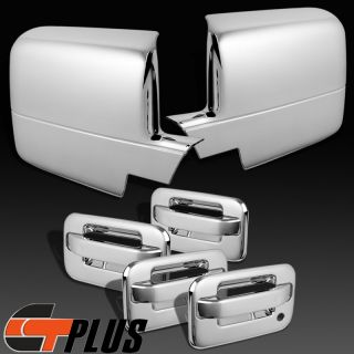 04 08 Ford F 150 Crew Cab Triple Chrome 4 Door Handle Mirror Covers Accent Trim