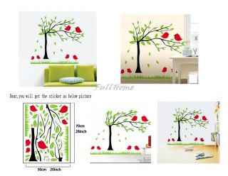 Green Tree Bird Removable Room Decal vinvy Wall Decor Wall Sticker DM0055