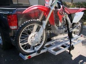 Dirt Bike Motorcycle Carrier Rack Ramp Trailer Hitch Hauler Truck Pick Up SUV RV