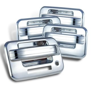 04 11 Ford F150 4 Door Handle Covers Chrome w Key Pad Opening Hole Pickup New